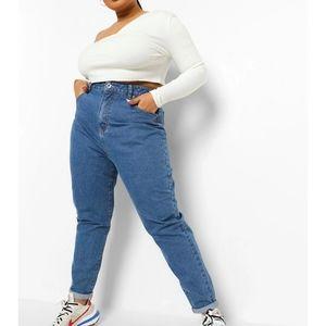 NWT BooHoo High Waist Mom Jeans